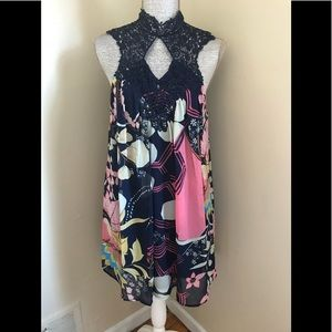New Entro Floral Lace Shift Dress Small
